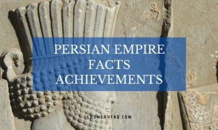 Persian Empire Facts Achievements