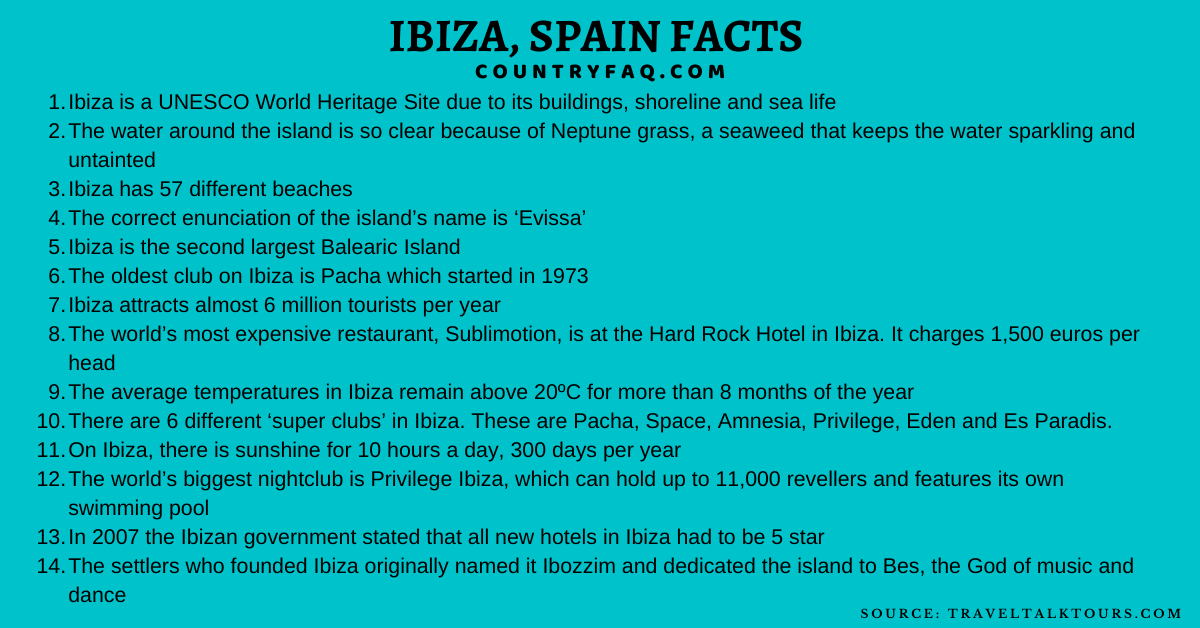 ibiza facts fun facts about ibiza interesting facts about ibiza