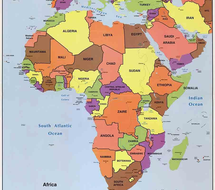 Capital cities in Africa