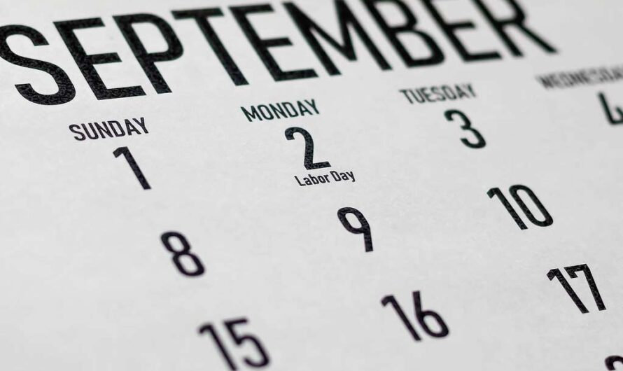 National Days in September – Overview Calendar