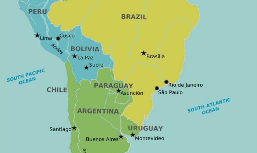 Countries in South America and Their Capitals – Complete List