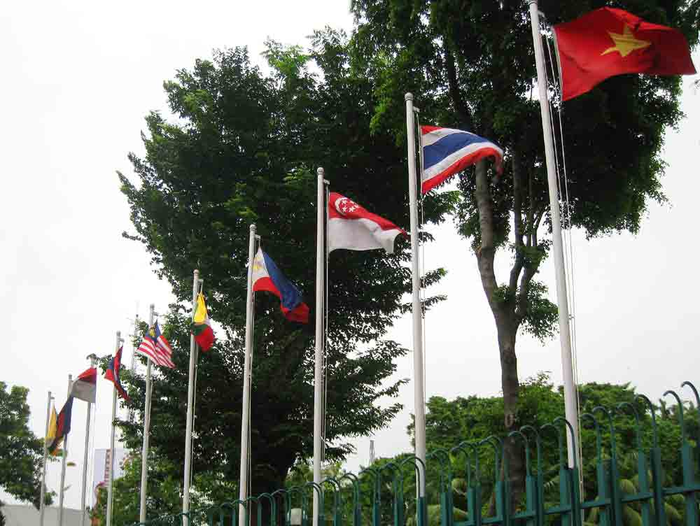 Southeast Asian Countries Flags