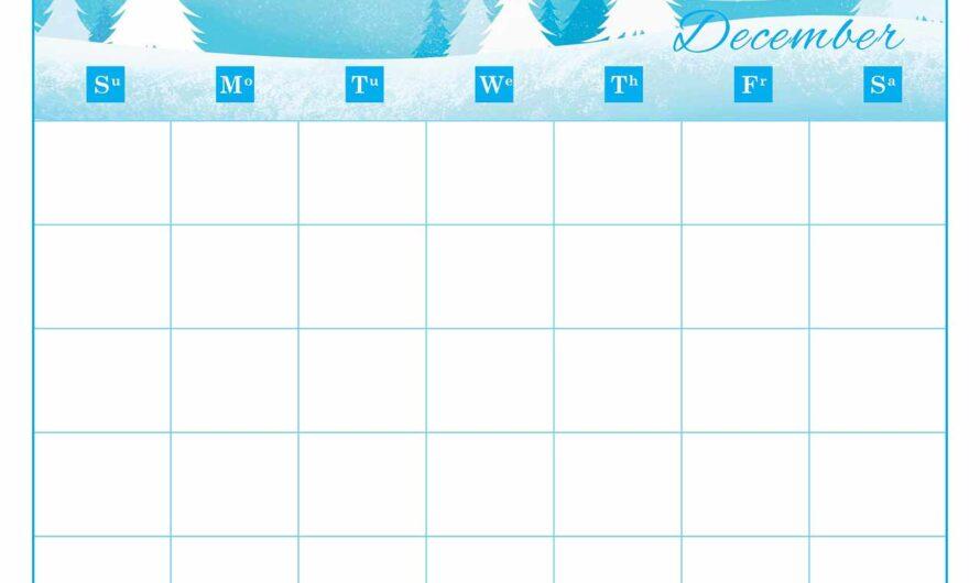 National Days in December – Overview Calendar